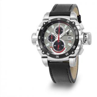 Astboerg Herren Armbanduhr At3061sg Kingsize Ii Megalock Chronograph Und Ovp Bild