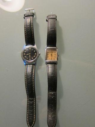 Zwei Armbanduhren Von Giorgio Armani & Camper,  Mit Lederarmband Bild