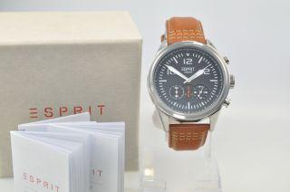 Esprit Es106321001 Chronograph Chester Chrono Brown Herrenuhr Uhr Uvp 119,  90€ Bild