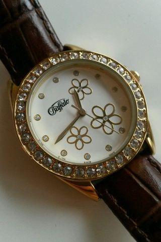 Buffalo Damen Armbanduhr Gold - Braun,  Wie Bild