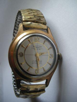 Roberta D U X - Armbanduhr 17 Juwels - Goldplated - Vintage Uhr 70er Jahre Bild
