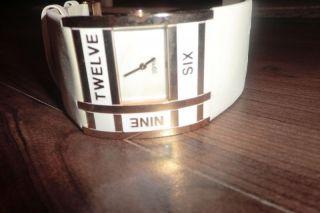 Esprit Damen Uhr Weiss Gold Luxus Armband Wie Nur Einmal Getragen Bild