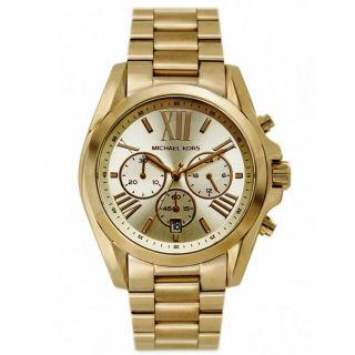 Michael Kors Uhr Mk5605 Bradshaw Damen Chronograph Edelstahl Armbanduhr Analog Bild