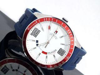 Ausverkauf Tommy Hilfiger Herrenuhr Armband Uhr Silikon Blau 1790800 Uvp 149€ Bild