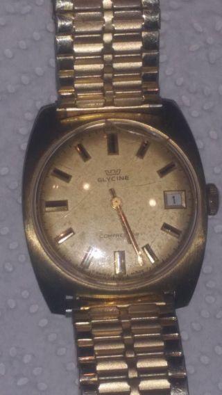Vergoldete Herren Armbanduhr Glycine Bild
