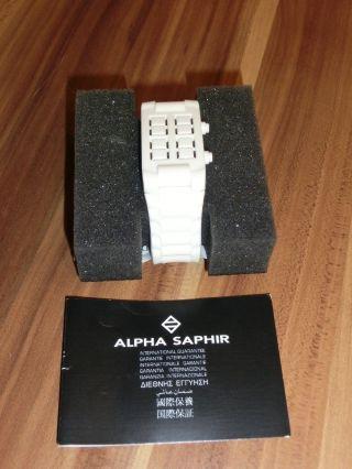 Alpha Saphur Uhr Unisex - Armbanduhr Digital Weiß Silikon 374b Weihnachten Bild