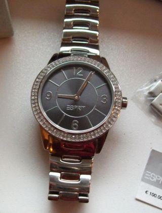 Esprit Damen - Armbanduhr Heron Analog Edelstahl A.  Es104352004 Wie Bild