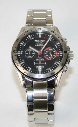 Aviator Herren Uhr Chronograph Avw8176g16 Edelstahl Silber Uvp 159€ Bild