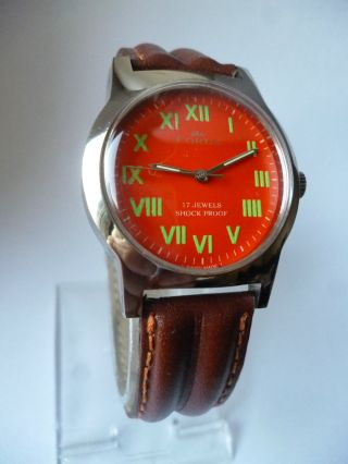 Rare Fortis Orange Eye Military Handaufzug,  Vintage, Bild