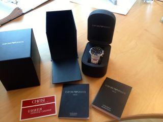 Emporio Armani Ovp Armbanduhr Ar2435 Herrenchronograph Classic Bild
