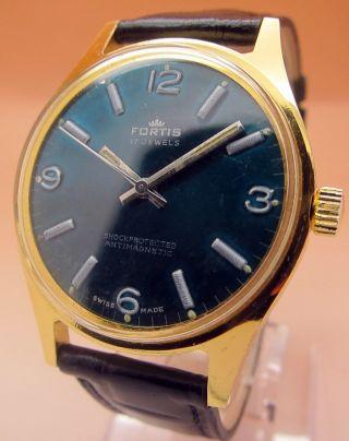 Fortis Shockprotected Antimagnetic Mechanische Automatik Uhr 17 J Lumi Zeiger Bild