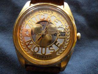 Mickey Mouse Uhr Gold,  Lorus Bild