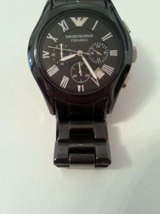 Herrenuhr Chronograph Emporio Armani Ar1400 Schwarz Preis 549€ Bild