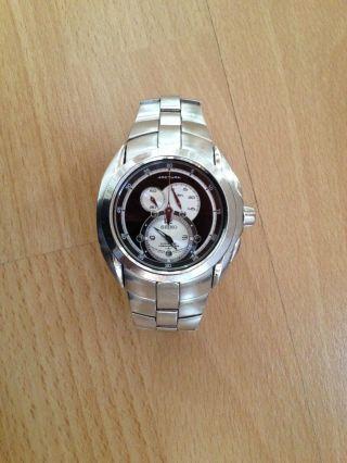 Seiko Arctura Kinetic Luxus Herren Chronograph Herrenuhr Np699€ Mit Neuem Akku Bild