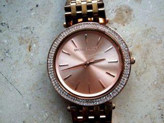 Michael Kors 3192 Damen Uhr,  Verg.  Stahlgehäuse/armband,  Datum, Bild