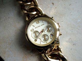 Michael Kors 3131 Damen Chronograph,  Verg.  Stahlgehäuse/armband,  Datum,  Neuwertig Bild