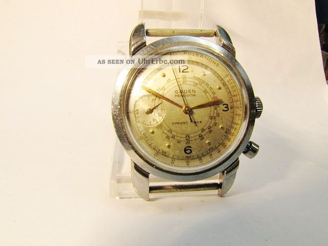 H - Armbanduhr - Gruen Präzision Chono Timer. Armbanduhren Bild