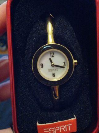 Goldene Esprit Uhr Mit Perlmutt Ziffernblatt,  Armspange Bild