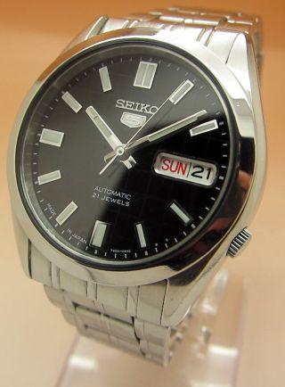 Seiko 5 Durchsichtig Mechanische Automatik Uhr 7s26 - 03b0 21 Jewels Datum & Tag Bild