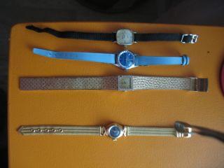 Diverse Armbanduhren Handaufzug 4 Gehen Einwandfrei Bild