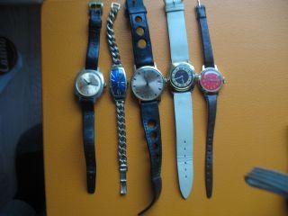5 Anker Armbanduhren Handaufzug 4 Gehen Einwandfrei Bild