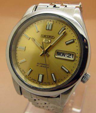 Seiko 5 Durchsichtig Automatik Uhr 7s26 - 0480 21 Jewels Datum & Tag Bild