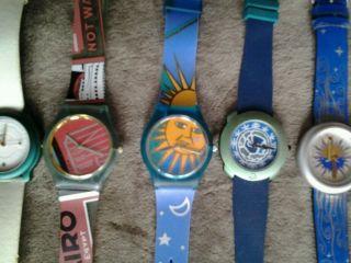 Konvolut 6 Uhren Benetton Life Club Med Minitz U.  A.  80er Bis 90er Jahre Bild