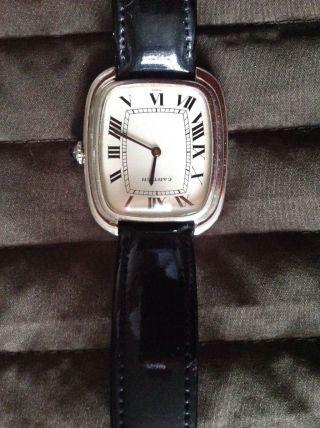 Herren Cartier Uhr 750 Weißgold Mit Faltschließe In 750er Gold Bild