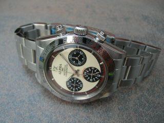 Alpha Dayton Paul Newman Handaufzug Chronograph Uhr Glas Marina Militare Parnis Bild