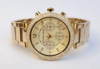 Michael Kors Damenuhr Armbanduhr Vergoldet Mk5354 Uvp 249 Bild