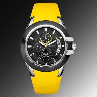 Guess Uhr Uhren Herrenuhr U10575g5 Markenuhr Gelb.  Uvp 149,  00 Bild