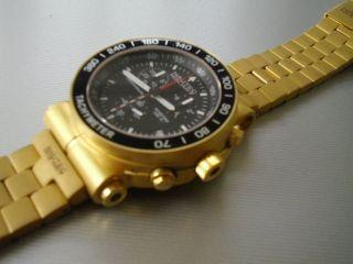 Herrenuhr Golduhr Uhr Chronograph Nautec No Limit Xl Masterpice Swiss Eto Bild