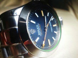 Rolex Oyster Perpetual Milgauss Armbanduhr Für Herren (116400gv) Bild
