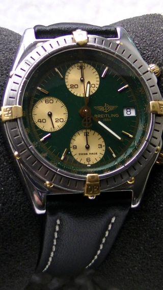 Breitling Chronomat Gold / Stahl Automatik Zifferblatt Grün B13048 - 1240 €uro Bild