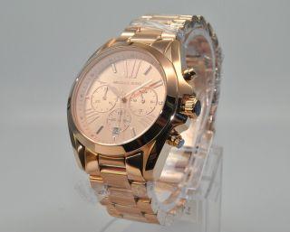 Michael Kors Mk5503 Damenuhr Armbanduhr Chronograph Edelstahl,  Rose Bild