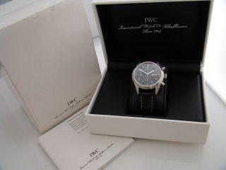 Iwc Uhr Der Fliegerchronograph Automatik Ref.  : 3706 Stahl An Lederband Bild