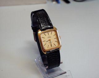 Servicesierte Und Vergoldete - Omega - De Ville - Damen - Uhr Mit Mech Werk Bild