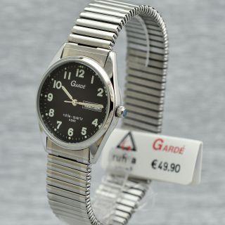 Herrenuhr Garde Ruhla Quarz Elegance 1195 - 6 Elastisches Armband Flexband Zugband Bild