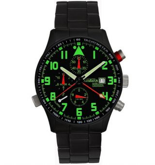 Astroavia Professional Chronograph Pilot R 44 Bs Alarm Uhr Fliegeruhr Military Bild