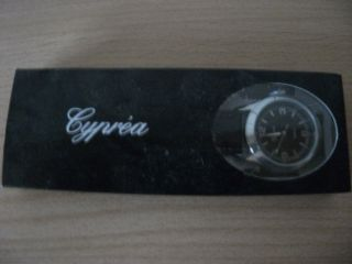 Damen Armbanduhr Damenarmbanduhr Quartz Cyprea Schwarzes Armband Ovp Bild