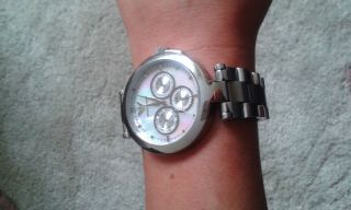 Armani Damen Uhr Edelstahl Chrono Ar0734 Bild