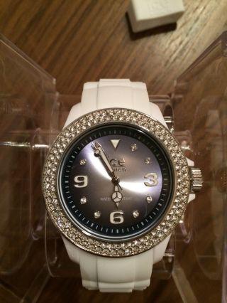 Ice Watch Uhr Weiß Swarovski - Kristalle,  Ungetragen,  Mit Verpackung Bild