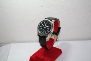 Black Seiko 5 Automatic 21 Jewels 7s26b,  Glasboden,  Military Style 24h Dial.  Nr.  4 Bild