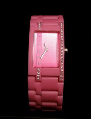Esprit Uhr In Pink Mit Zirkonia Top Bild
