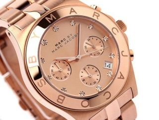 Marc By Marc Jacobs Damenuhr Mbm3102 Chronograph Rosegoldfarbig Top Design Bild