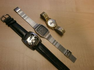 Konvolut 3 Armbanduhren Seiko Chronograph Sieger Bergana Mechanisch Handaufzug Bild