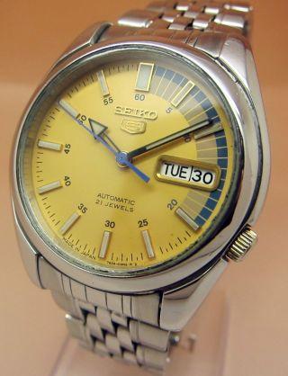 Seiko 5 7s26 - 01v0 Racer Glasboden Automatik Uhr 21 Jewels Datum - Taganzeige Bild
