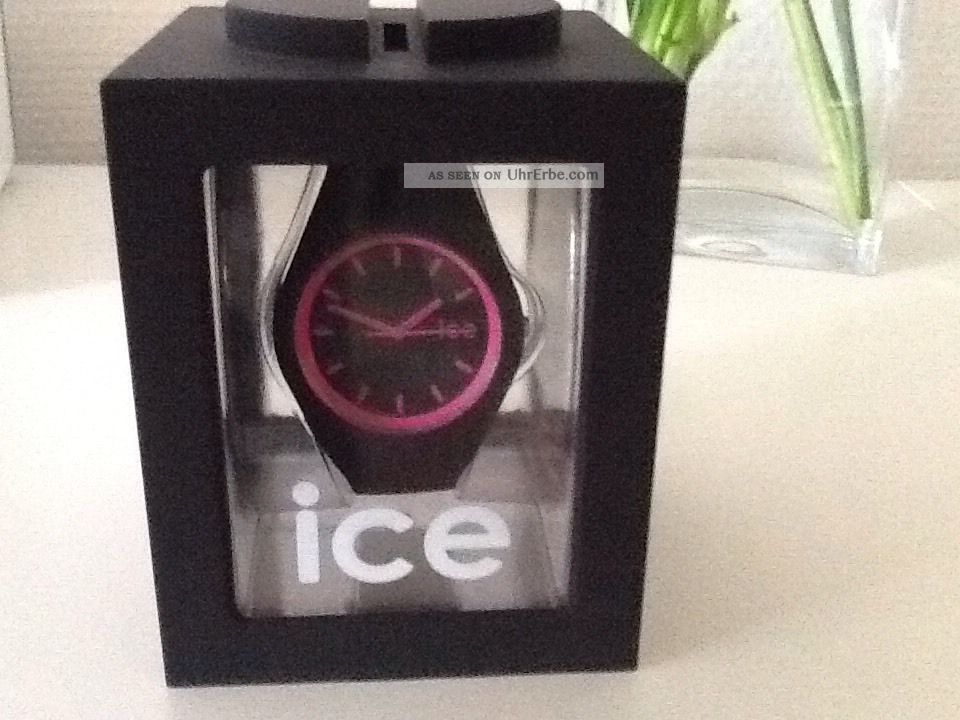 ice watch uhr crazy pink schwarz unisex. Black Bedroom Furniture Sets. Home Design Ideas