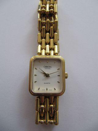 Uhr Für Damen Orion Swiss Quartz Stahl Goldfarben Bild
