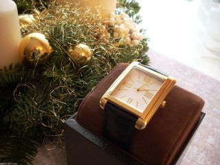 Michael Kors Uhr Armbanduhr Mk2240 Leder & Gold Für Sie & Ihn & Bild
